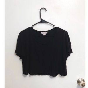 Tops - Black boxy top